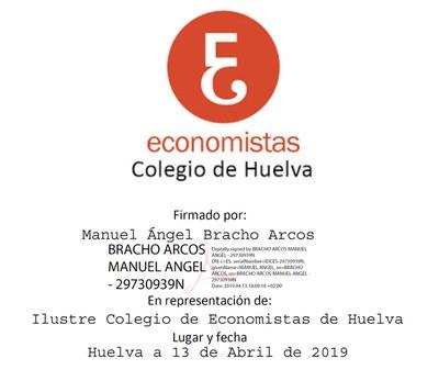 13 Ilustre Colegio de Economistas de Huelva (13.4.2019)
