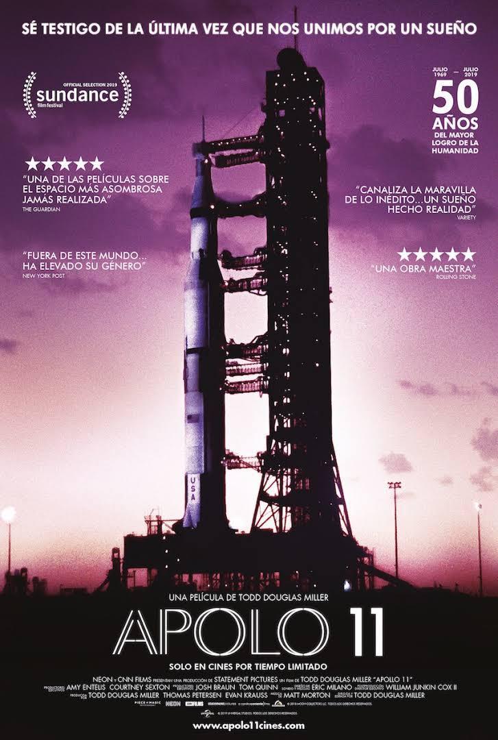 Proyección de la película Apolo 11