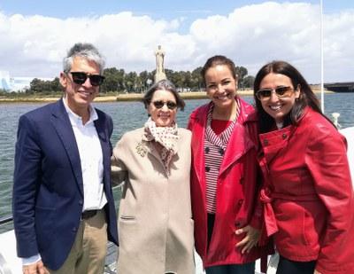 Fiona Donovan, Mª Ángeles Muriel, Estela Villalba y Juan Antonio Márquez
