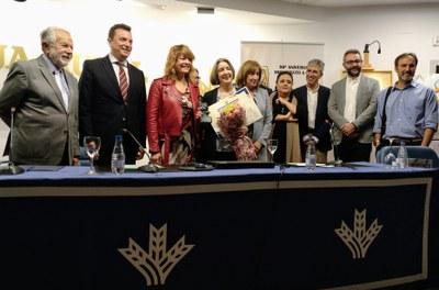 Fiona Donovan reconocida como Socia de Honor de la Asociación Huelva Nueva York