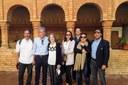 Fiona Donovan y miembros de la Asociación Huelva Nueva York